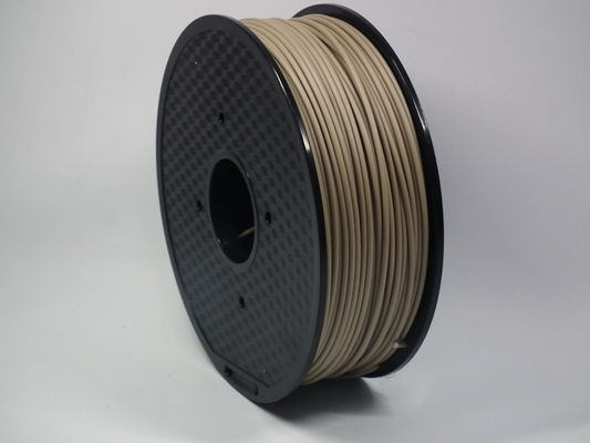 चीन 1.75MM 2.85MM 3MM 3D Printer Filament , Light Weight Wood PLA Filament फैक्टरी