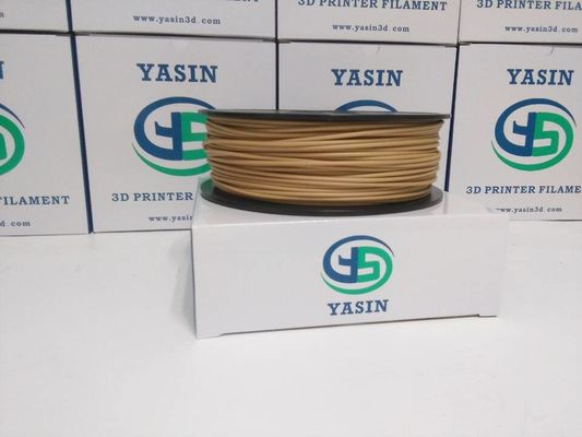 चीन Natural Color 1kg Wood 3D Printer Filament 1.75mm / 2.85mm / 3mm  Good Toughness वितरक