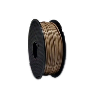 चीन 1kg Wood 3D Printer Filament Natural Color Good Toughness For Makerbot / UP फैक्टरी