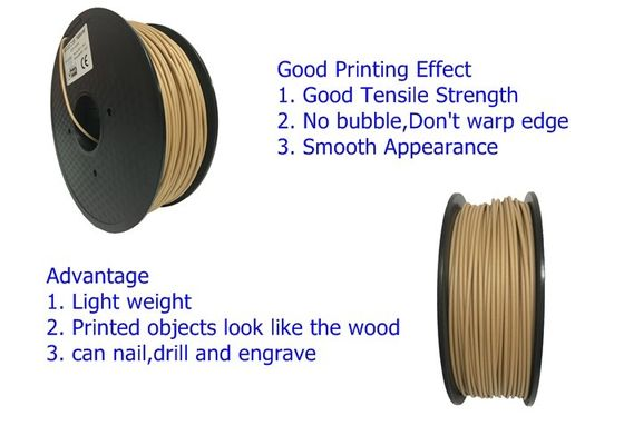 चीन OEM Service Wood 3D Printer Filament PLA / ABS / HIPS / PETG Filament वितरक
